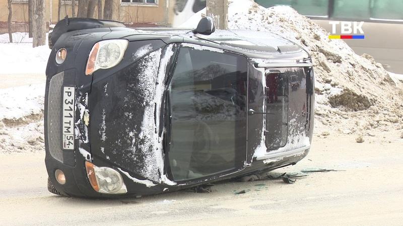 Ледяная угроза колейность на дороге стала причиной ДТП