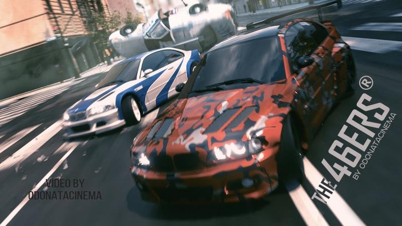 Самодельный NFS The46ERS и BMW m3 GTR против полиции. CGI анимация. 3ds max. Corona render
