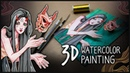 3D Painting ✦ How to Create Shadow Box Art