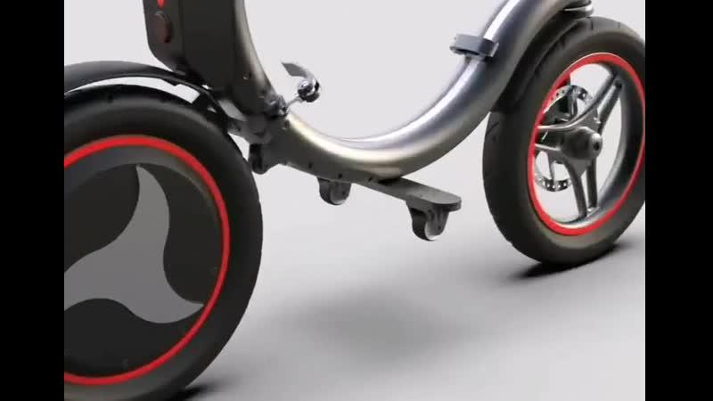 HEDIE mini складной электрический велосипед