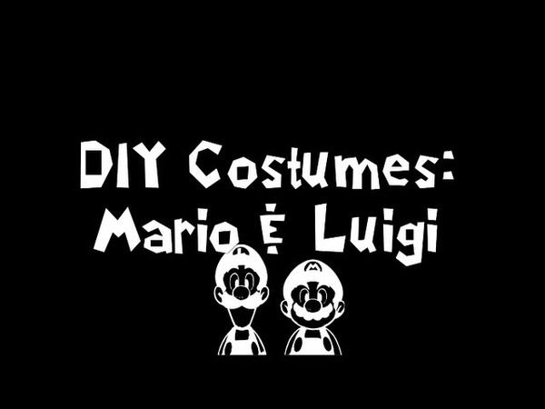 DIY Halloween Mario and Luigi Costumes Easy Fast