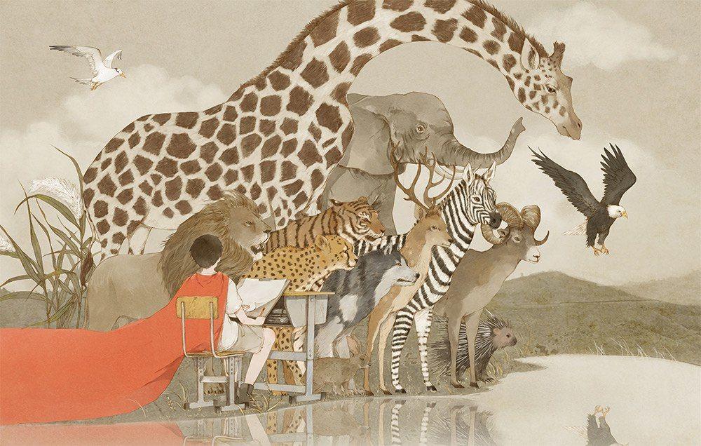 Человек и природа в рисунках Jin XingYe