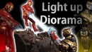 IRON MAN vs THANOS light up End Game Diorama with 30 LEDs_ Polymer Clay Timelapse