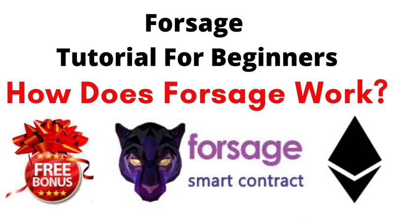 Forsage Tutorial For Beginners FREE BONUS Earn 1 Ethereum Per Day How Does Forsage Work