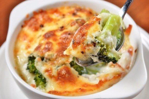 Классная Запеканка с брокколи и сыром