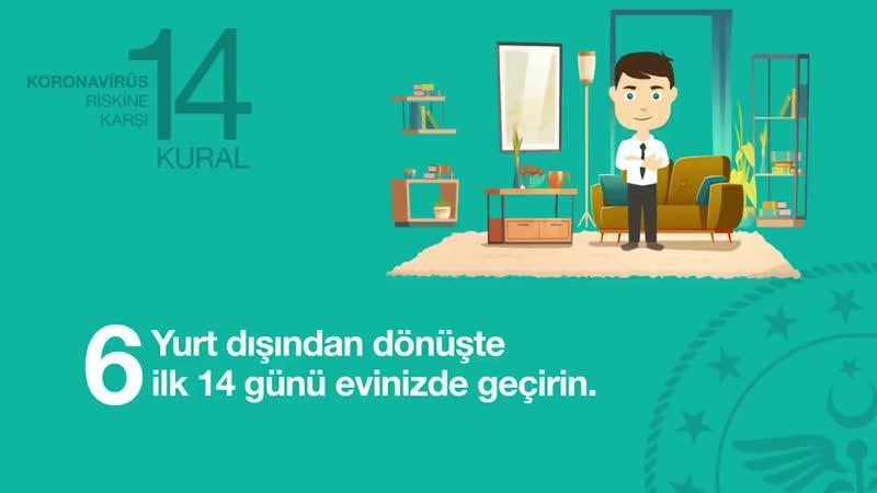 Sizi ve Turkiyeyi Koronavirus riskinden koruyacak 14 Kural