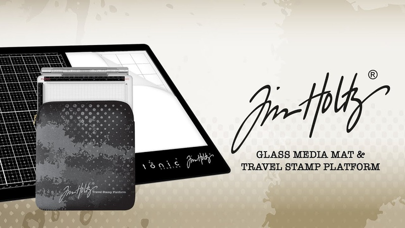 Tonic Introduces - Tim Holtz Travel Platform Glass Media Mat