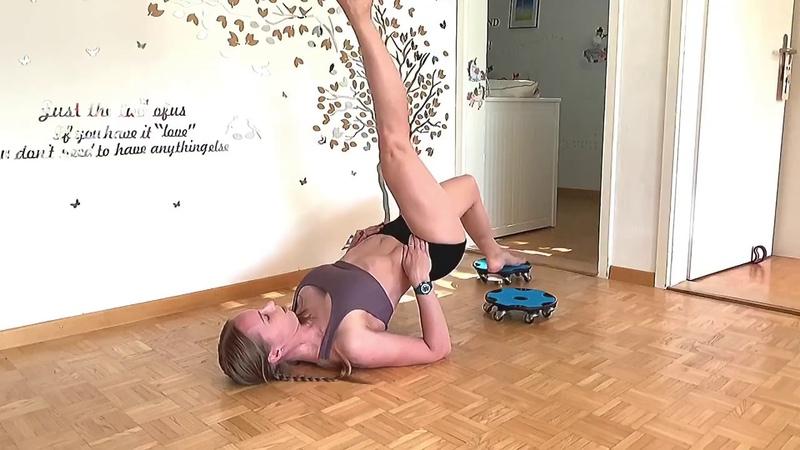 Splits Forward fold core Yoga flow with Rhyanna
