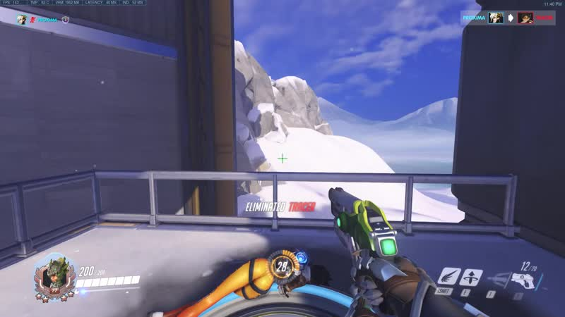 Mercy's pistol When I aim perfectly at the Tracer's head I am hitting BODY shots as shown in kill feed with white arrow But