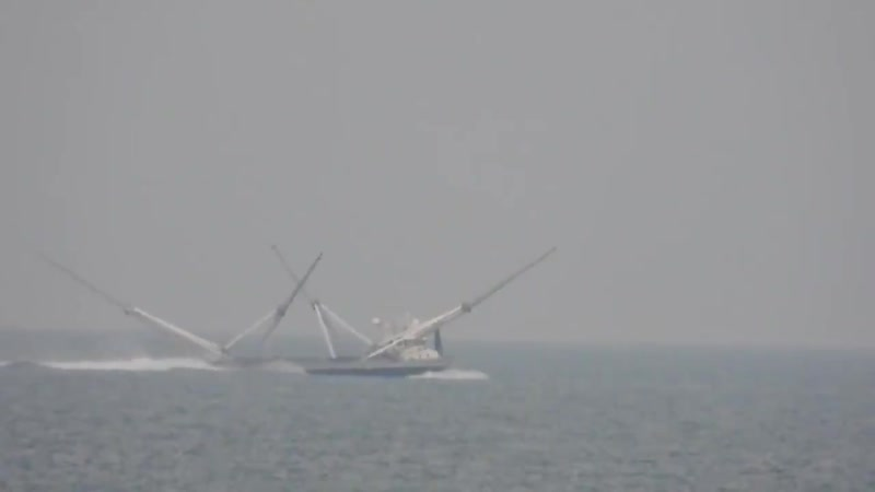 SpaceXFleet Heres a short video of Ms Chief speeding along 3.5 miles offshore from Cocoa Beach around N 3rd St.